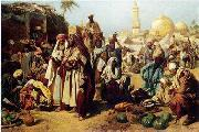 Arab or Arabic people and life. Orientalism oil paintings  382