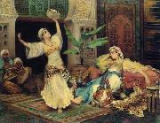 unknow artist Arab or Arabic people and life. Orientalism oil paintings 604