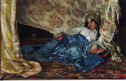 Arab or Arabic people and life. Orientalism oil paintings  428