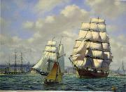 unknow artist Seascape, boats, ships and warships. 54