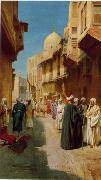 Arab or Arabic people and life. Orientalism oil paintings  437
