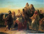 Arab or Arabic people and life. Orientalism oil paintings  443