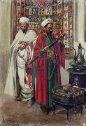 Arab or Arabic people and life. Orientalism oil paintings  423