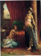 Arab or Arabic people and life. Orientalism oil paintings  418