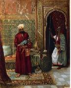 Arab or Arabic people and life. Orientalism oil paintings  376