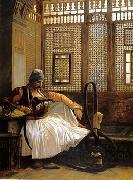 Arab or Arabic people and life. Orientalism oil paintings  463