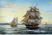 unknow artist Seascape, boats, ships and warships. 65