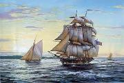 unknow artist Seascape, boats, ships and warships. 80