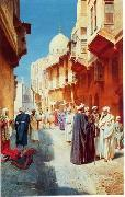 Arab or Arabic people and life. Orientalism oil paintings  413