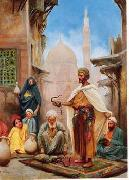Arab or Arabic people and life. Orientalism oil paintings  415