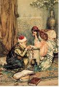 Arab or Arabic people and life. Orientalism oil paintings  397