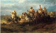 Arab or Arabic people and life. Orientalism oil paintings  380