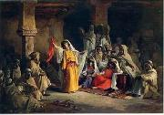 Arab or Arabic people and life. Orientalism oil paintings  374