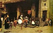 Arab or Arabic people and life. Orientalism oil paintings  455