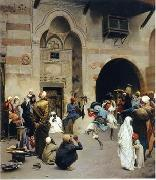 Arab or Arabic people and life. Orientalism oil paintings  406