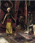 Arab or Arabic people and life. Orientalism oil paintings  385