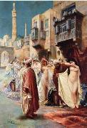 Arab or Arabic people and life. Orientalism oil paintings  414