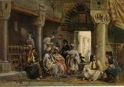 Arab or Arabic people and life. Orientalism oil paintings  425