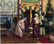 Arab or Arabic people and life. Orientalism oil paintings  373