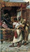 Arab or Arabic people and life. Orientalism oil paintings  434