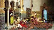 Arab or Arabic people and life. Orientalism oil paintings  379
