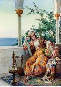 unknow artist Arab or Arabic people and life. Orientalism oil paintings 569