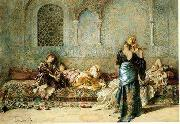 Arab or Arabic people and life. Orientalism oil paintings  389