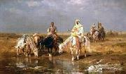 Arab or Arabic people and life. Orientalism oil paintings  361