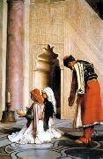 Arab or Arabic people and life. Orientalism oil paintings  465