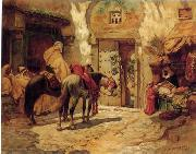 Arab or Arabic people and life. Orientalism oil paintings  438