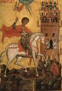 Anonymous The Miracle of St George and the Dragon oil painting reproduction