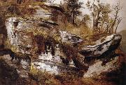 Asher Brown Durand Rocky Cliff oil painting reproduction