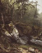 Asher Brown Durand Study from Nature rocks and trees in the Catskills oil painting reproduction