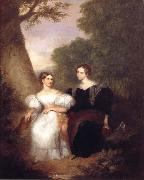 Asher Brown Durand Portrait of the Artist-s Wife and her sister oil painting reproduction