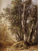 Asher Brown Durand Trees by the Brookside,Kingston oil painting reproduction