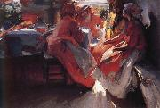 Avram (Abram) Efimovich Arkhipov Visiting oil painting reproduction
