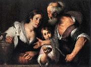Bernardo Strozzi Prophet Elijah and the Widow of Sarepta oil painting reproduction