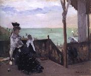 Berthe Morisot In a Villa at the Seaside oil painting reproduction