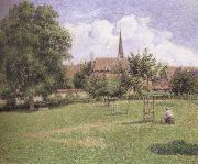 Camille Pissarro The House of the Deaf Woman and the Belfry at Eragny oil painting reproduction