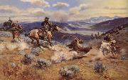 Charles M Russell Landscape oil painting reproduction