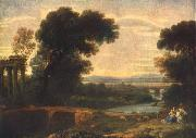 Claude Lorrain Landscape with the Rest on the Flight into Egypt oil painting reproduction