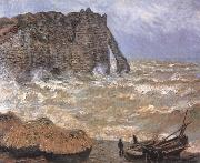 Claude Monet Etretat,Rough Sea oil painting reproduction