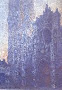 Claude Monet Rouen Cathedral Facade and Tour d-Albane oil painting reproduction