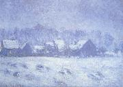 Claude Monet Snow Effect at Giverny oil painting reproduction