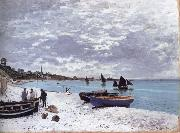 Claude Monet The Beach at Sainte-Adresse oil painting reproduction