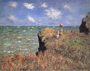 Claude Monet The Cliff Walk,Pourville oil painting reproduction