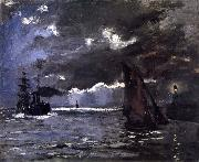 A Seascape,Shipping by Moonlight