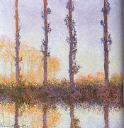 Claude Monet Four pieces of poplar oil painting reproduction