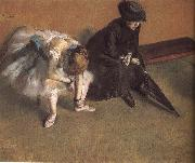 Edgar Degas Waiting oil painting reproduction
