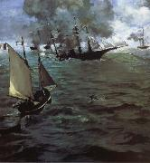 Edouard Manet Alabama and Kearsarge oil painting reproduction